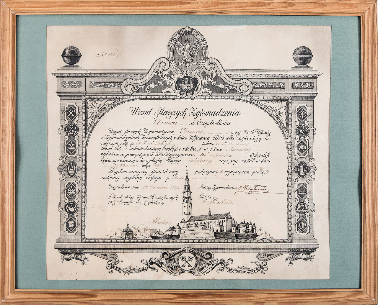 APJ Sikora Certyficate