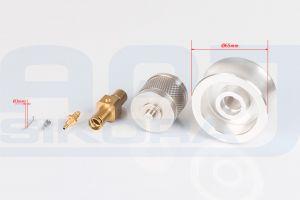 Elementy wykonane na obrabiarkach cnc z mosiądzu, aluminium i stali nierdzewnej - części do maszyn o średnicy 3-65 mm