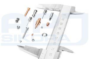 Precyzyjne elementy typu szwajcarskiego precyzyjnie toczone z stali nierdzewnej oraz mosiądzu o wymiarach 3-25 mm